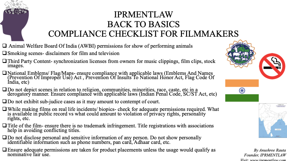 Compliance Checklist for Filmmakers